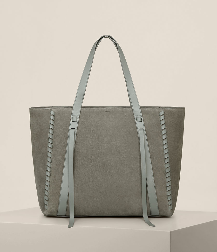 Womens Ray Nubuck East West Tote (light_slate_grey) - Image 1