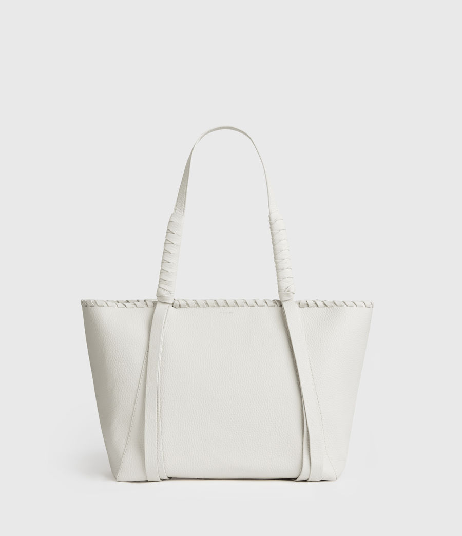 Mujer Kepi Small East West Leather Tote Bag (chalk_white) - Image 1