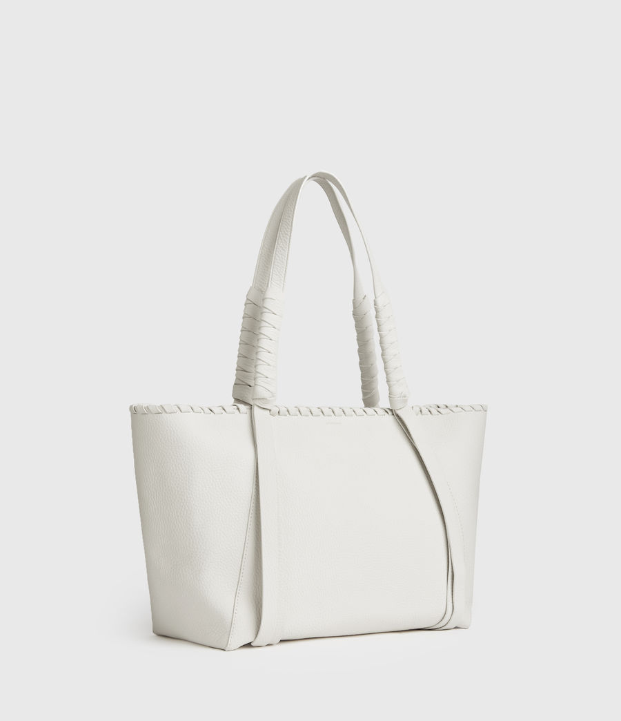 Mujer Kepi Small East West Leather Tote Bag (chalk_white) - Image 2
