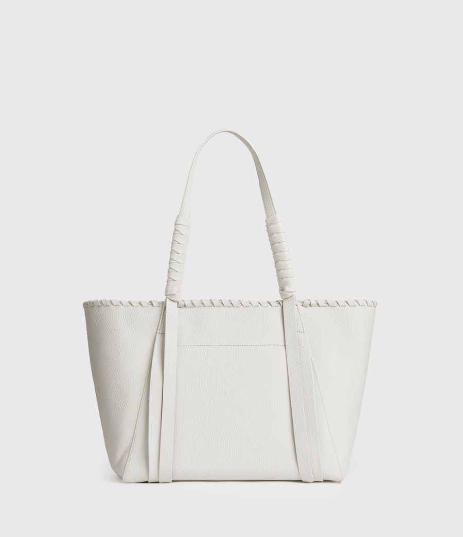 Mujer Kepi Small East West Leather Tote Bag (chalk_white) - Image 5