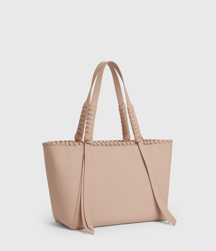 Womens Kepi Small East West Leather Tote Bag (nude_pink) - Image 3