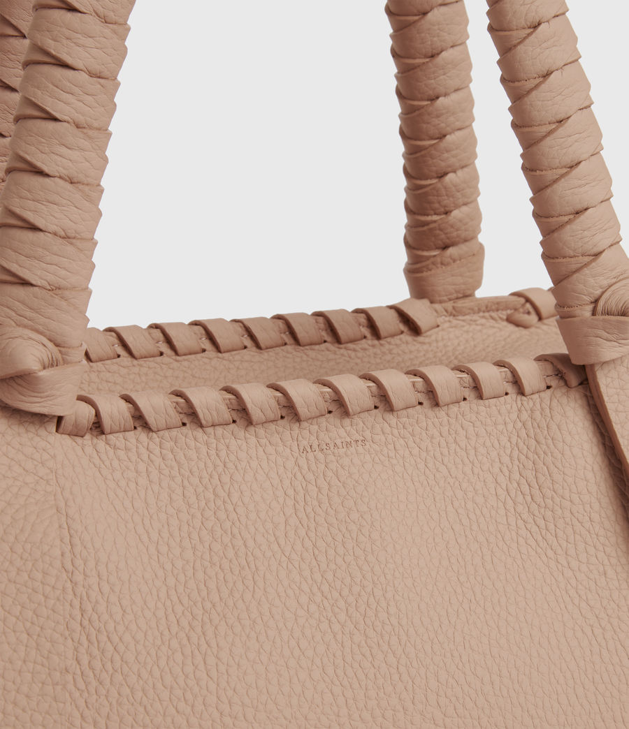 Womens Kepi Small East West Leather Tote Bag (nude_pink) - Image 5