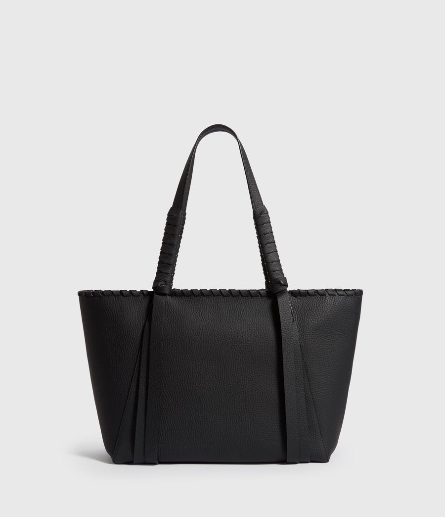 Women's Kepi Small East West Leather Tote Bag (black) - Image 1