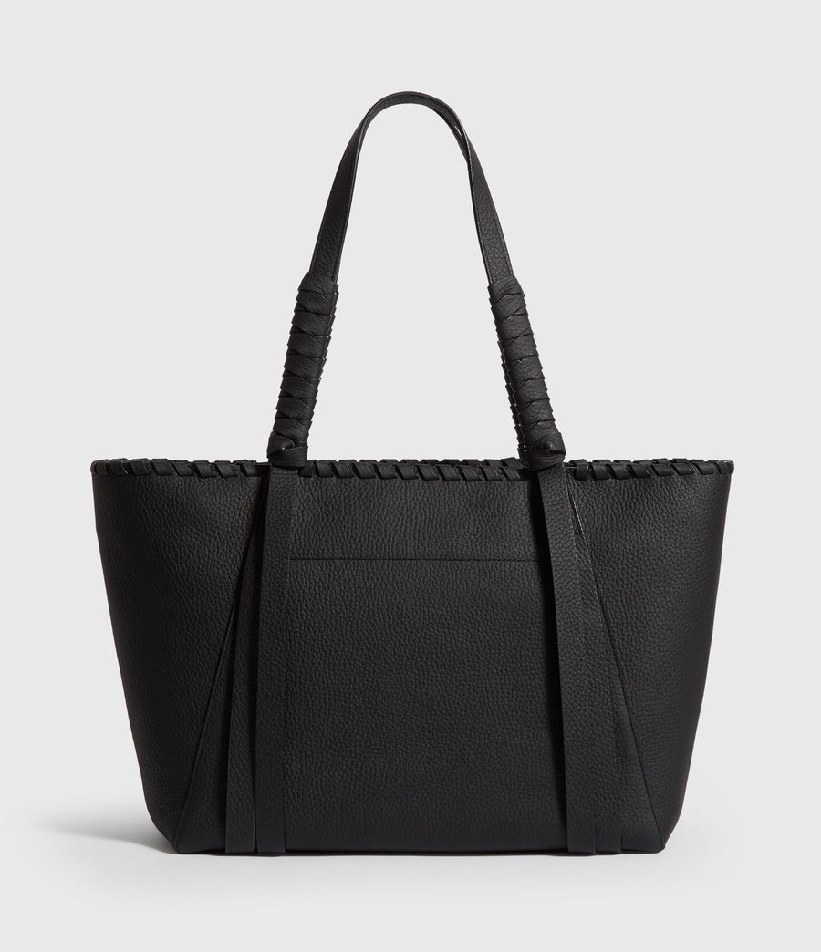 Women's Kepi Small East West Leather Tote Bag (black) - Image 5