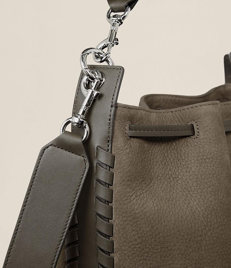 Womens Ray Nubuck Bucket Bag (mink_grey) - Image 4