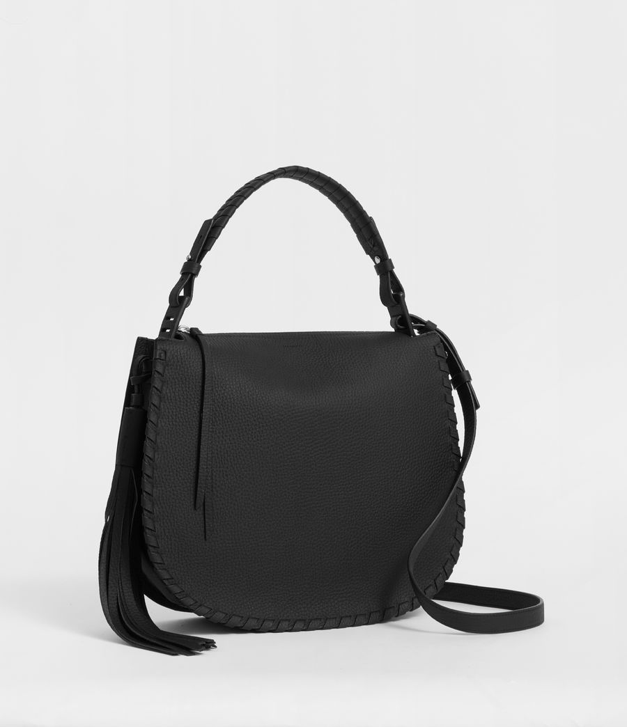 Womens Mori Hobo Bag (black) - Image 3