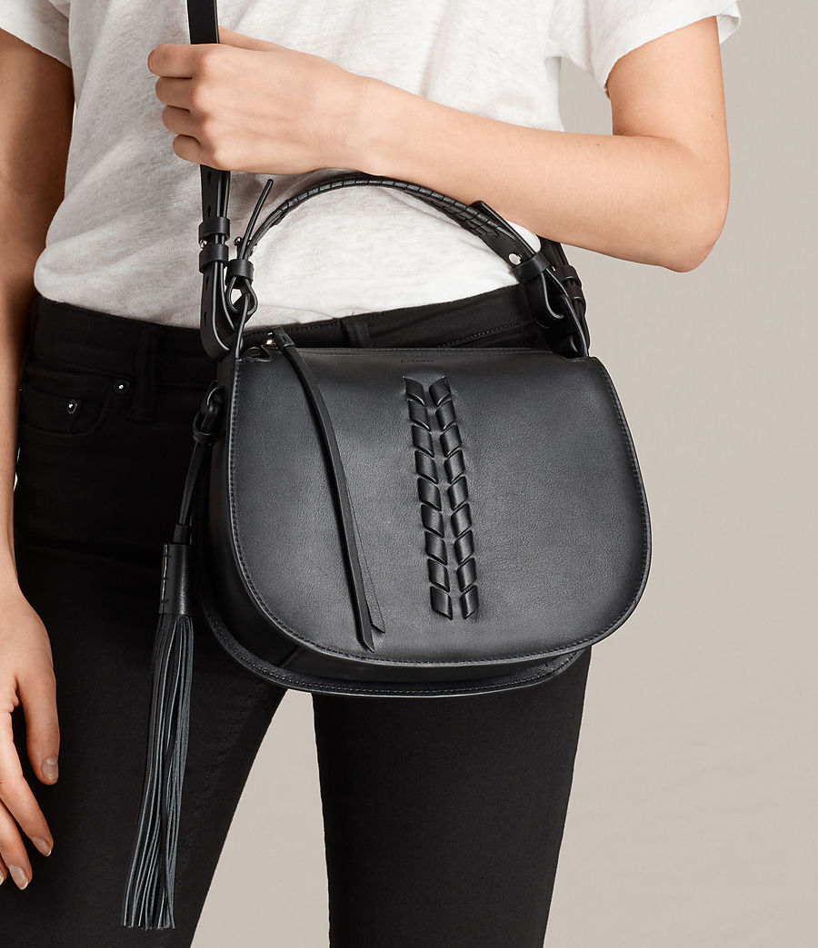 Womens Kepi Crossbody Bag (black) - Image 2