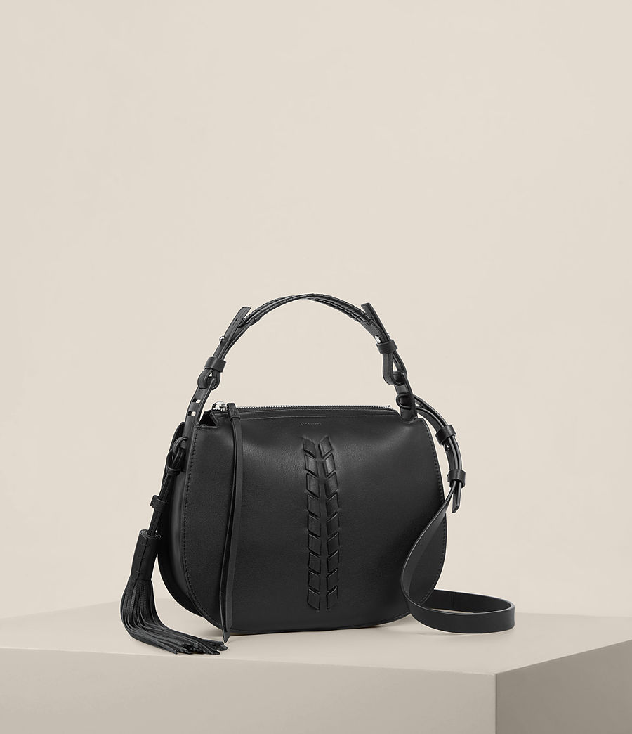 Womens Kepi Crossbody Bag (black) - Image 6