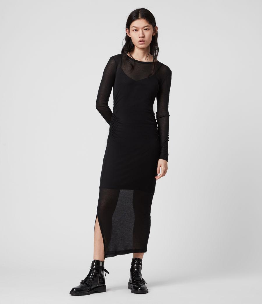 Mujer Vestido con Combinación Francesco (black) - Image 1