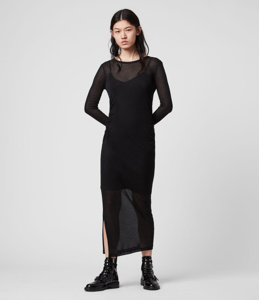 Mujer Vestido con Combinación Francesco (black) - Image 4