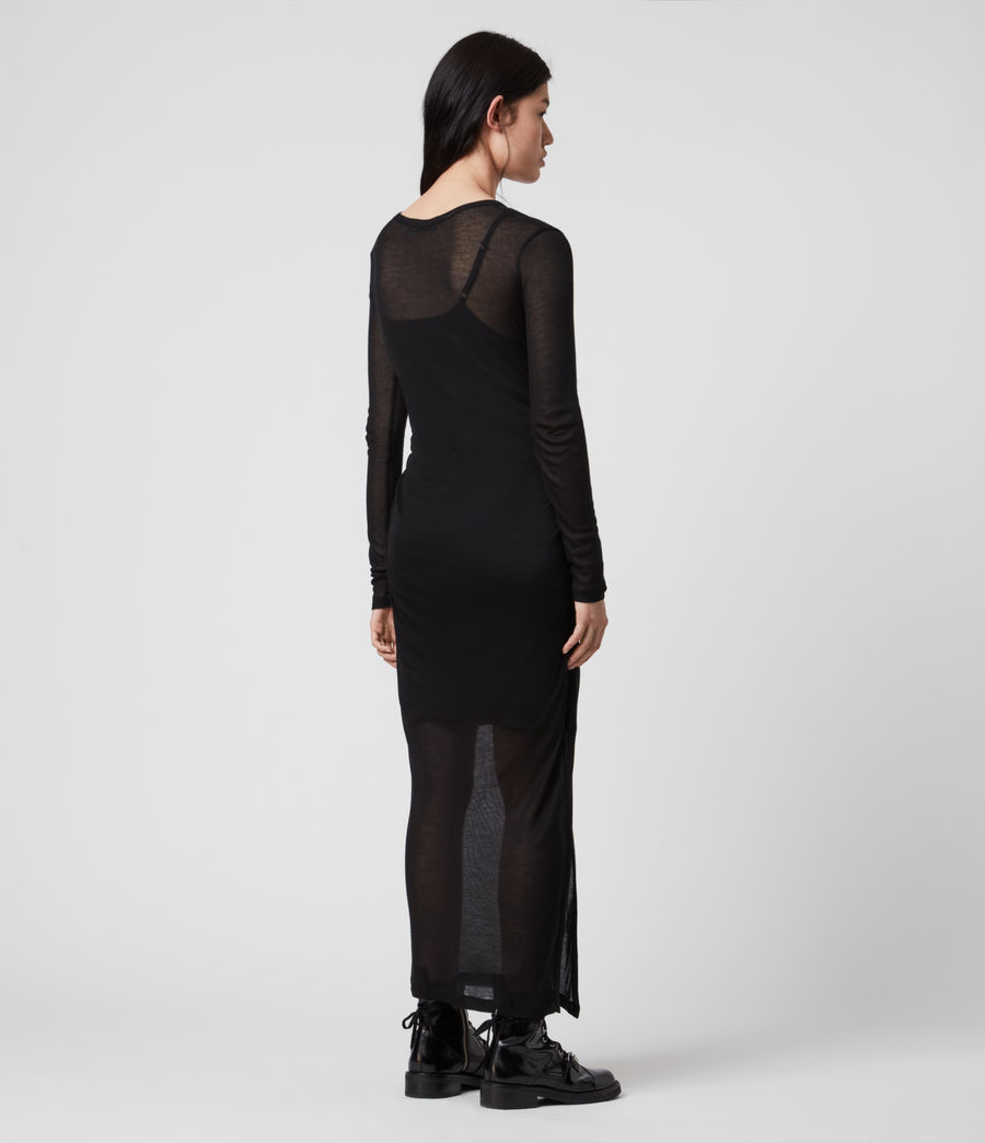 Mujer Vestido con Combinación Francesco (black) - Image 5
