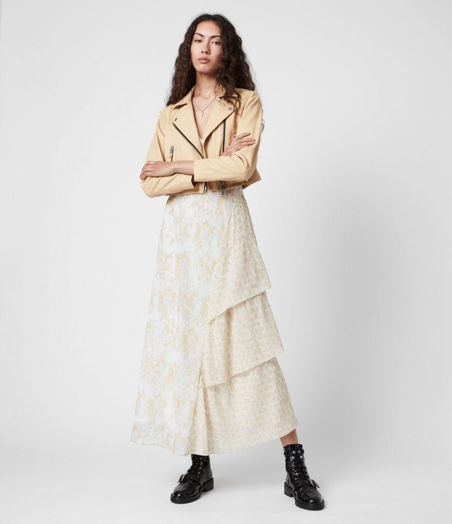 Damen Kali Marble Dress (beige) - Image 7