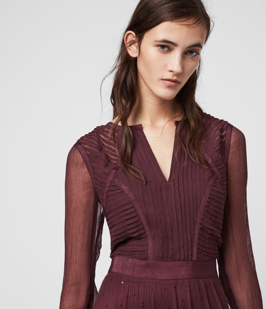 Women's Rochi Embellished Dress (port_purple) - Image 2