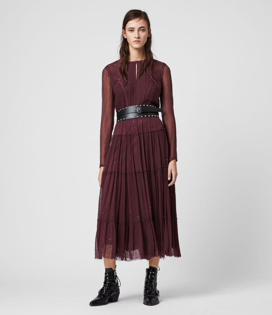 Women's Rochi Embellished Dress (port_purple) - Image 3