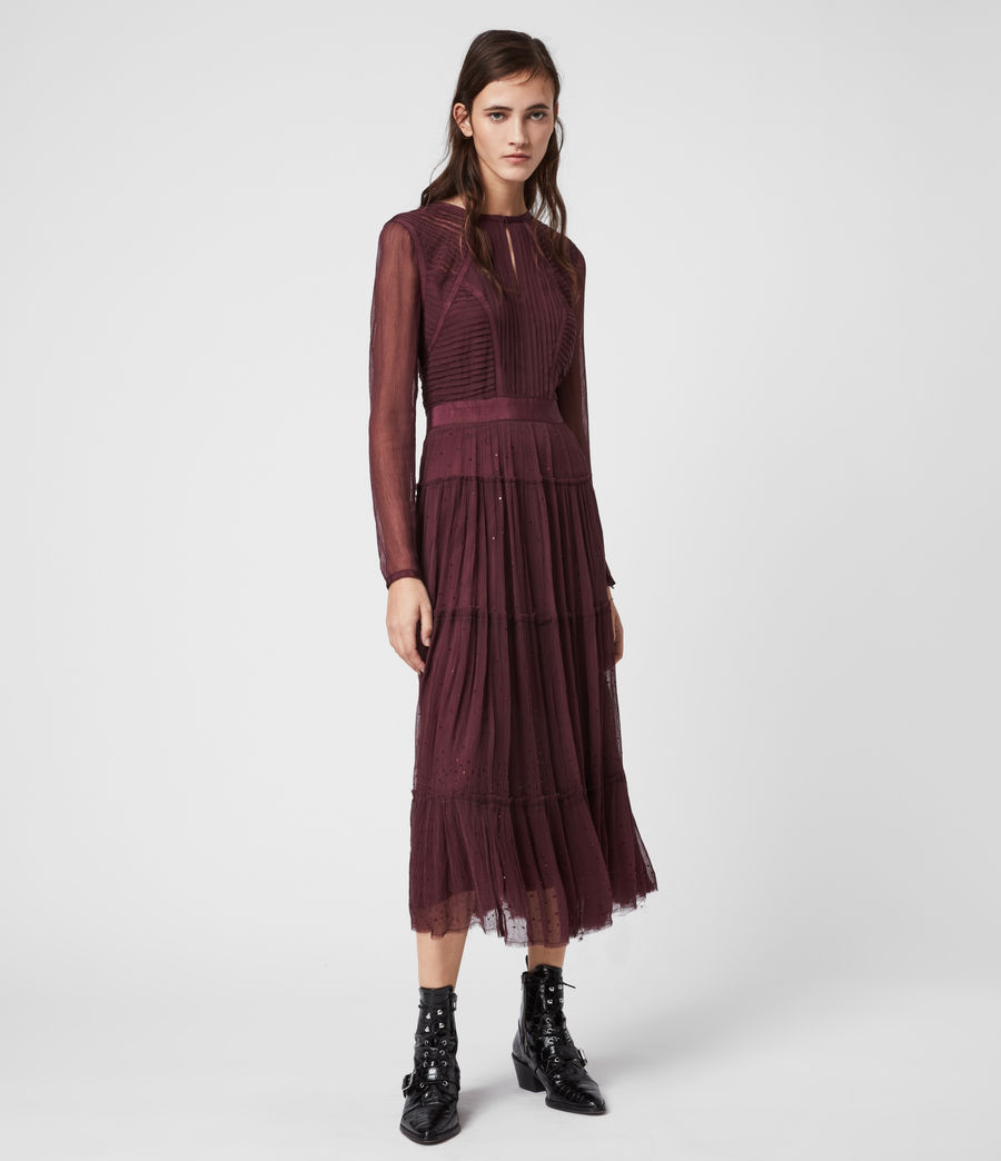 Women's Rochi Embellished Dress (port_purple) - Image 4