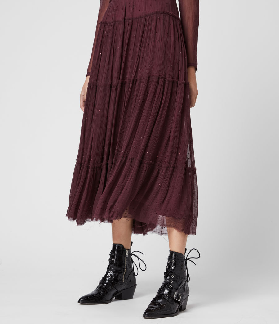 Women's Rochi Embellished Dress (port_purple) - Image 5