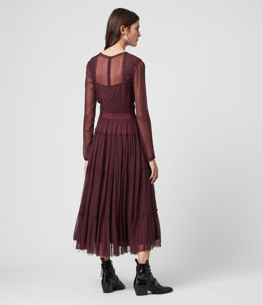 Women's Rochi Embellished Dress (port_purple) - Image 6