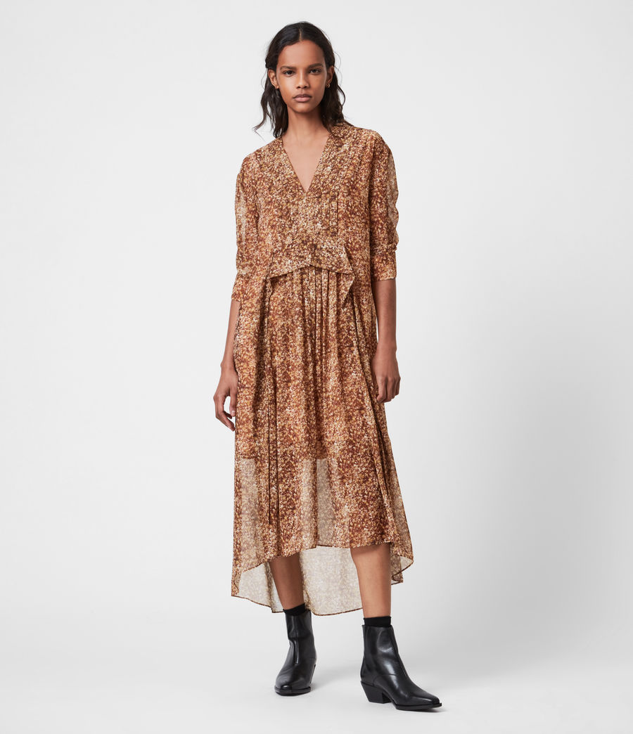 Women's Ina Tabby Dress (chestnut) - Image 1