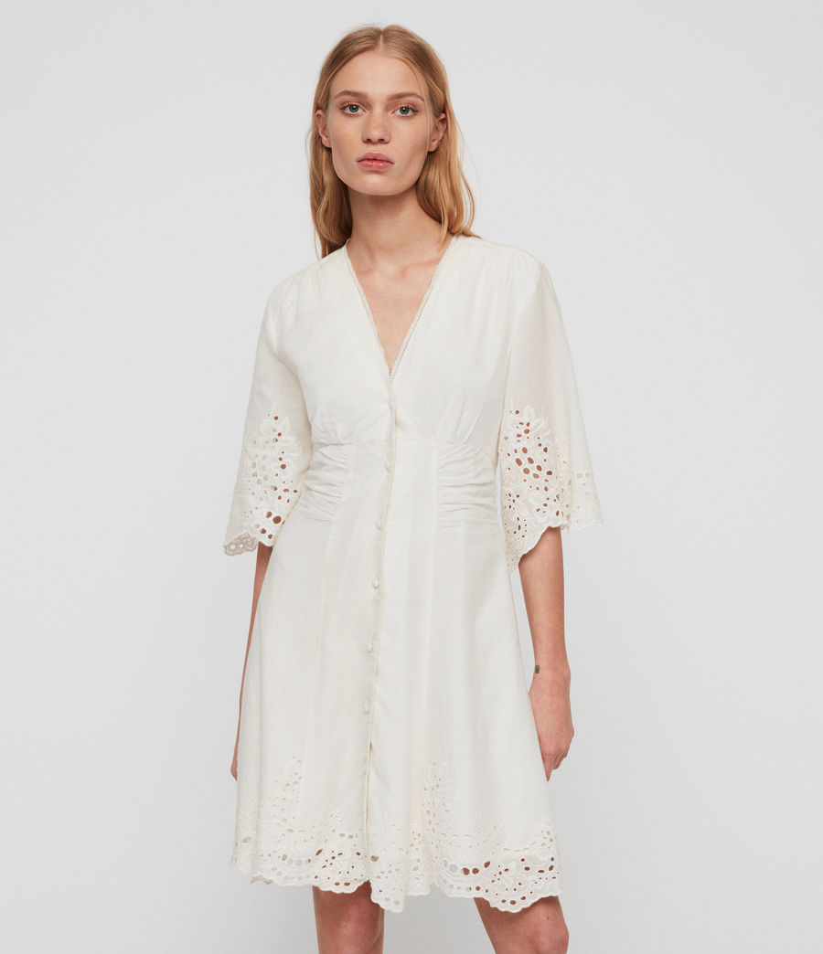 Women's Una Broderie Dress (chalk_white) - Image 1