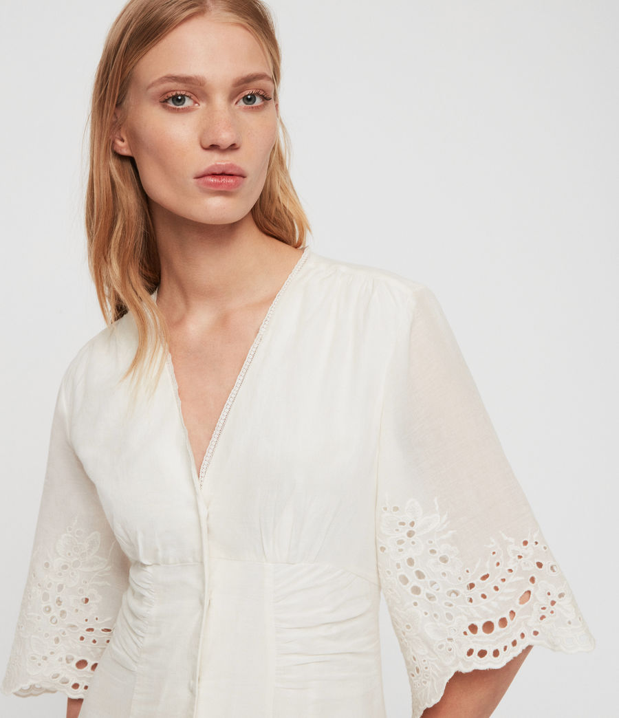 Women's Una Broderie Dress (chalk_white) - Image 2
