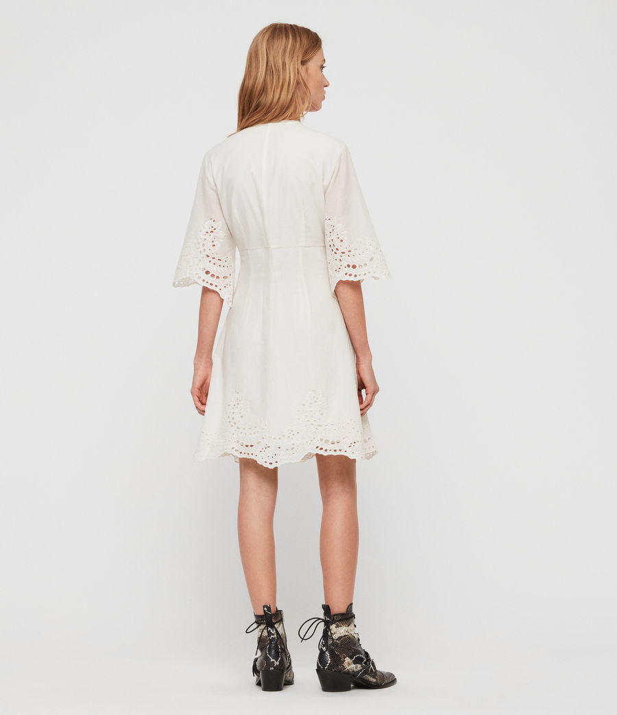 Women's Una Broderie Dress (chalk_white) - Image 5