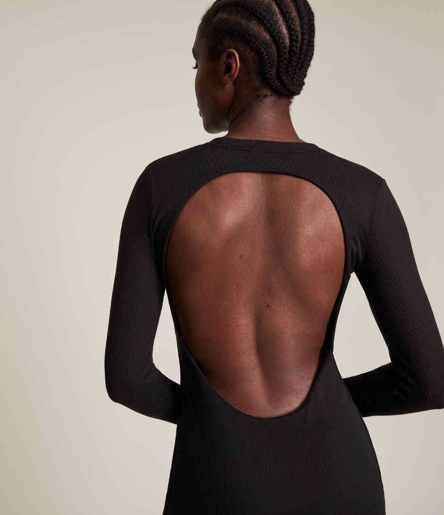 Femmes Robe Manches Longues Molly (black) - Image 2