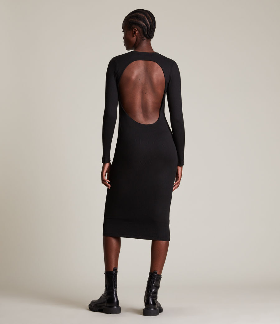 Femmes Robe Manches Longues Molly (black) - Image 5