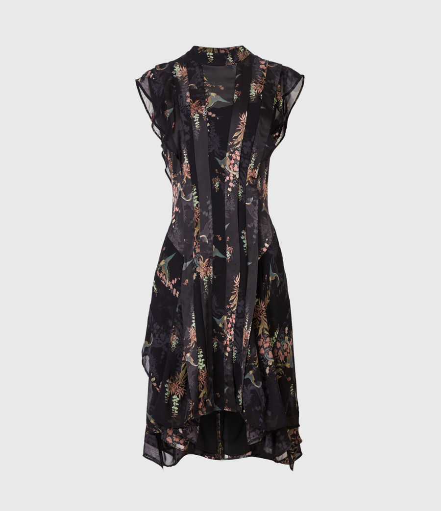 Womens Fleur Melisma Dress (black) - Image 2