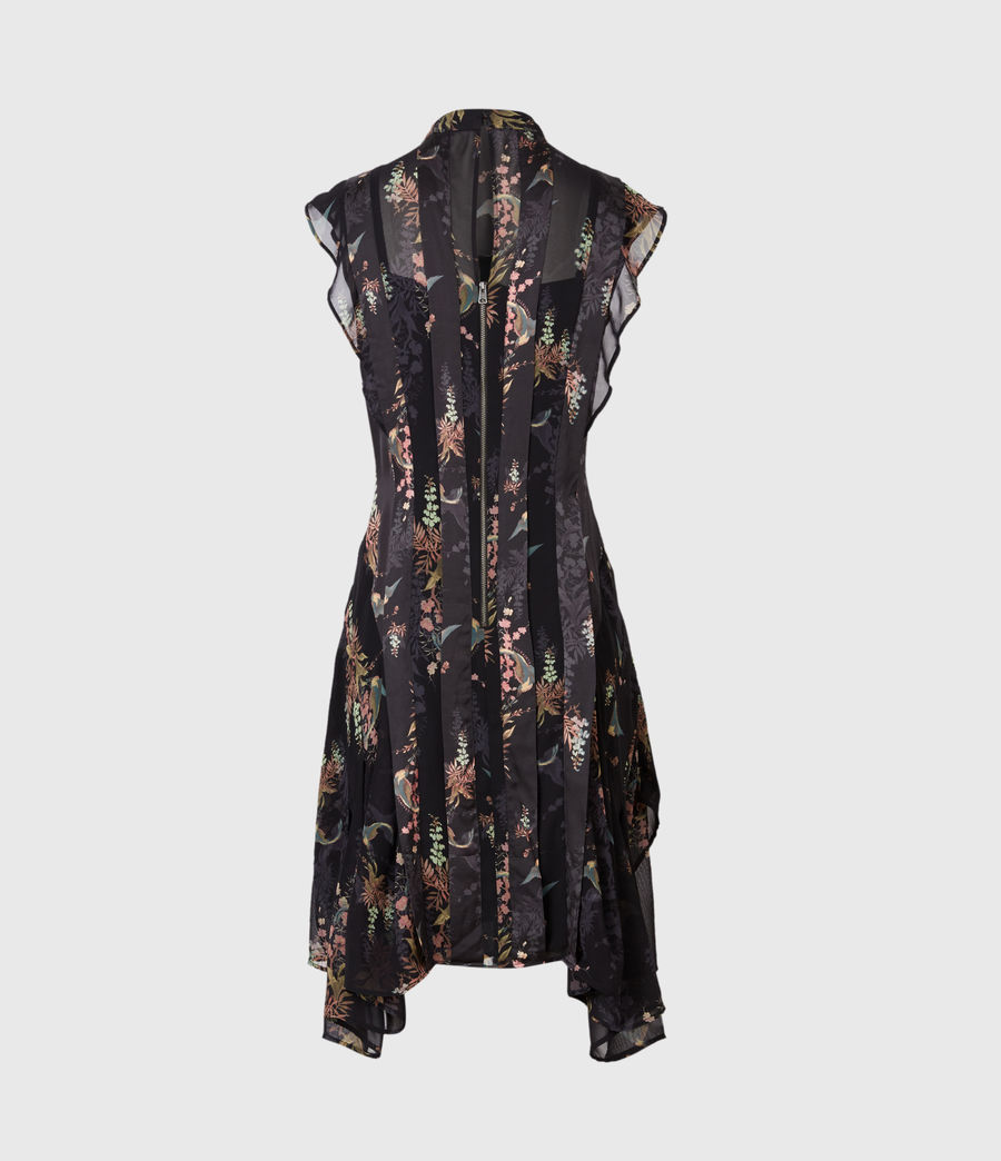 Womens Fleur Melisma Dress (black) - Image 3