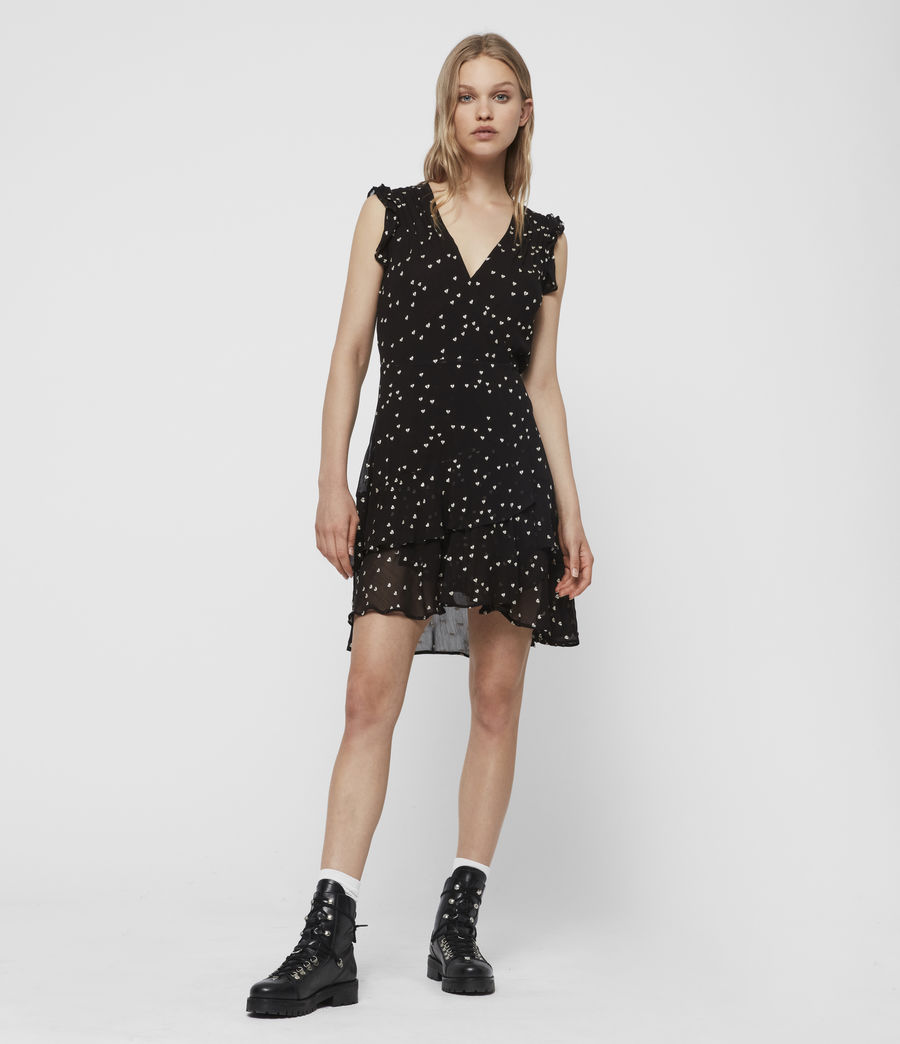 Women's Lana Hearts Dress (black) - Image 1