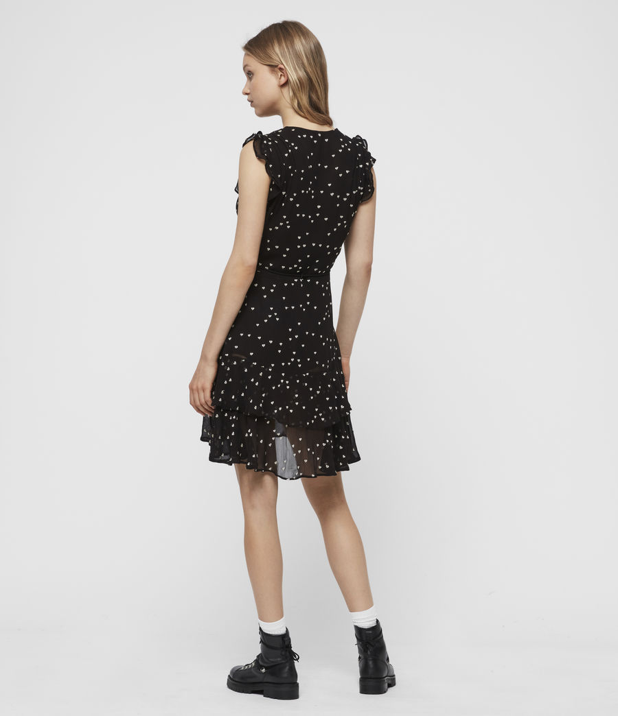Women's Lana Hearts Dress (black) - Image 5