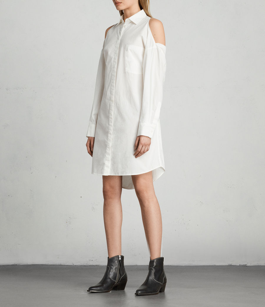 Mujer Vestido camisero Joelle (chalk_white) - Image 1