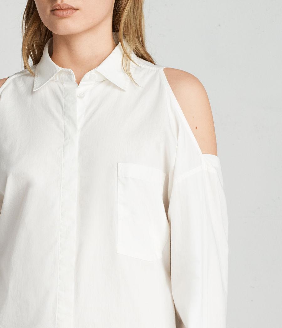 Mujer Vestido camisero Joelle (chalk_white) - Image 2