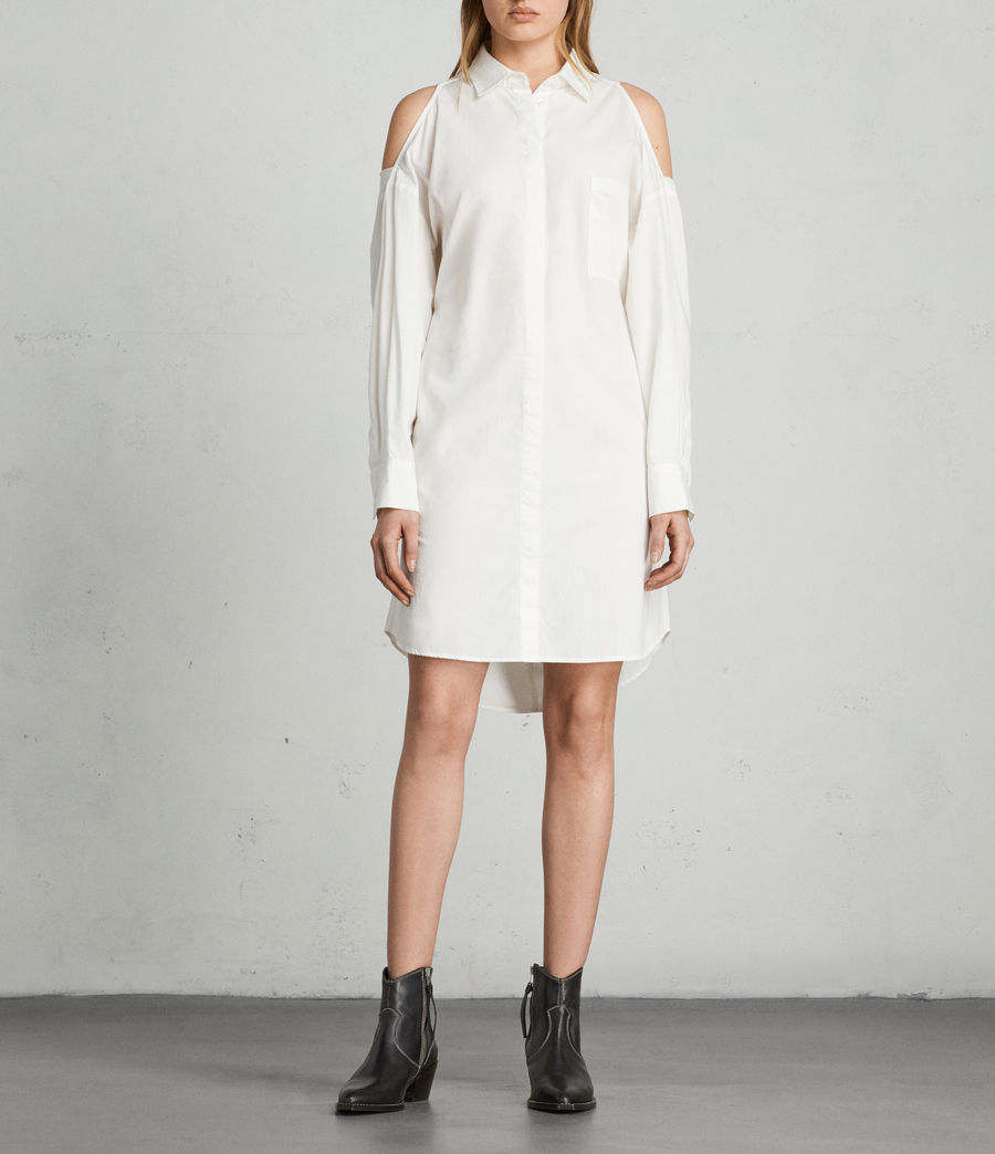 Women's Joelle Shirt Dress (chalk_white) - Image 3