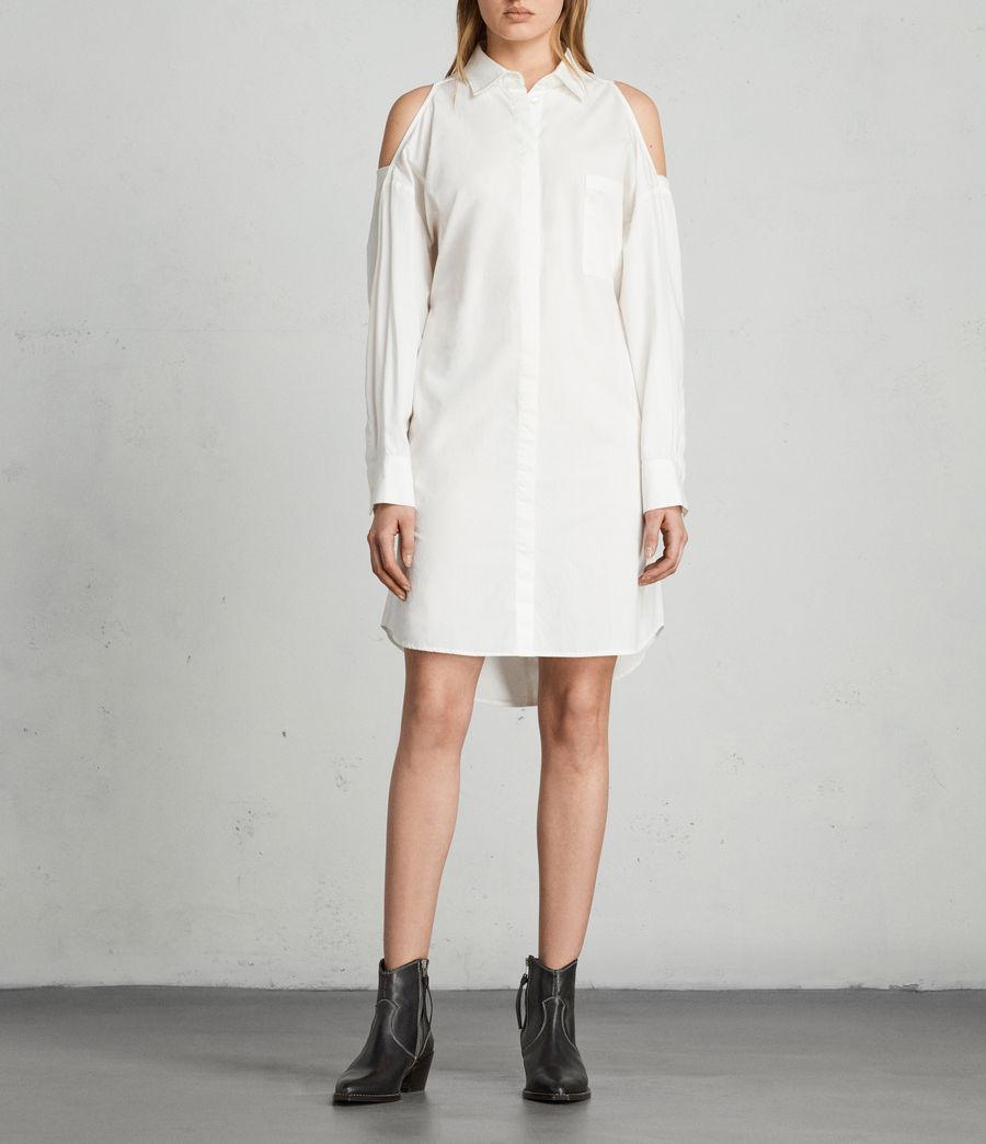 Mujer Vestido camisero Joelle (chalk_white) - Image 3