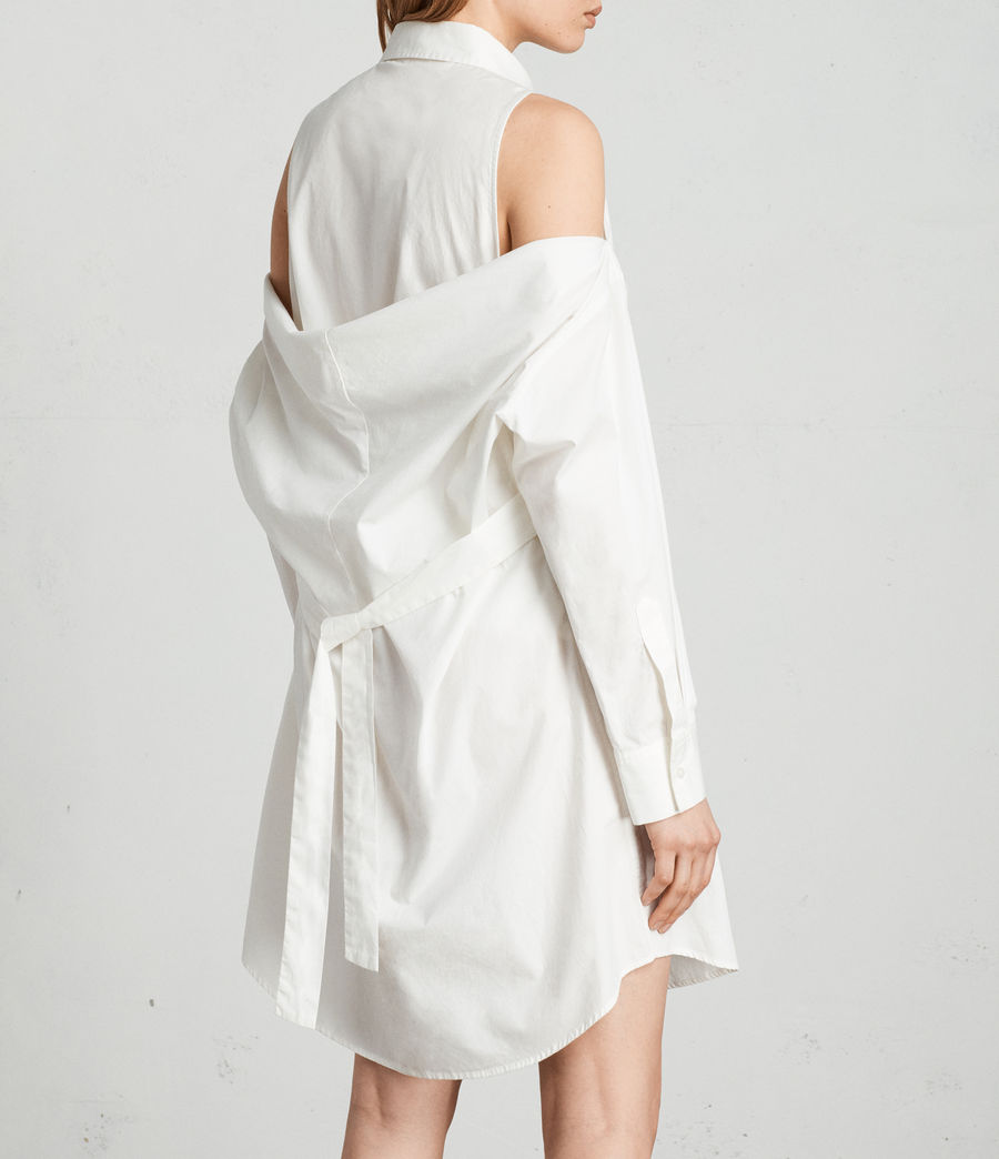 Women's Joelle Shirt Dress (chalk_white) - Image 4