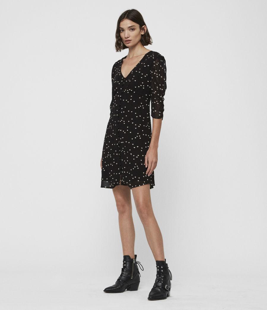 Womens Malie Hearts Dress (black) - Image 1