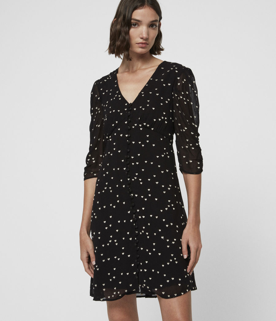 Womens Malie Hearts Dress (black) - Image 2