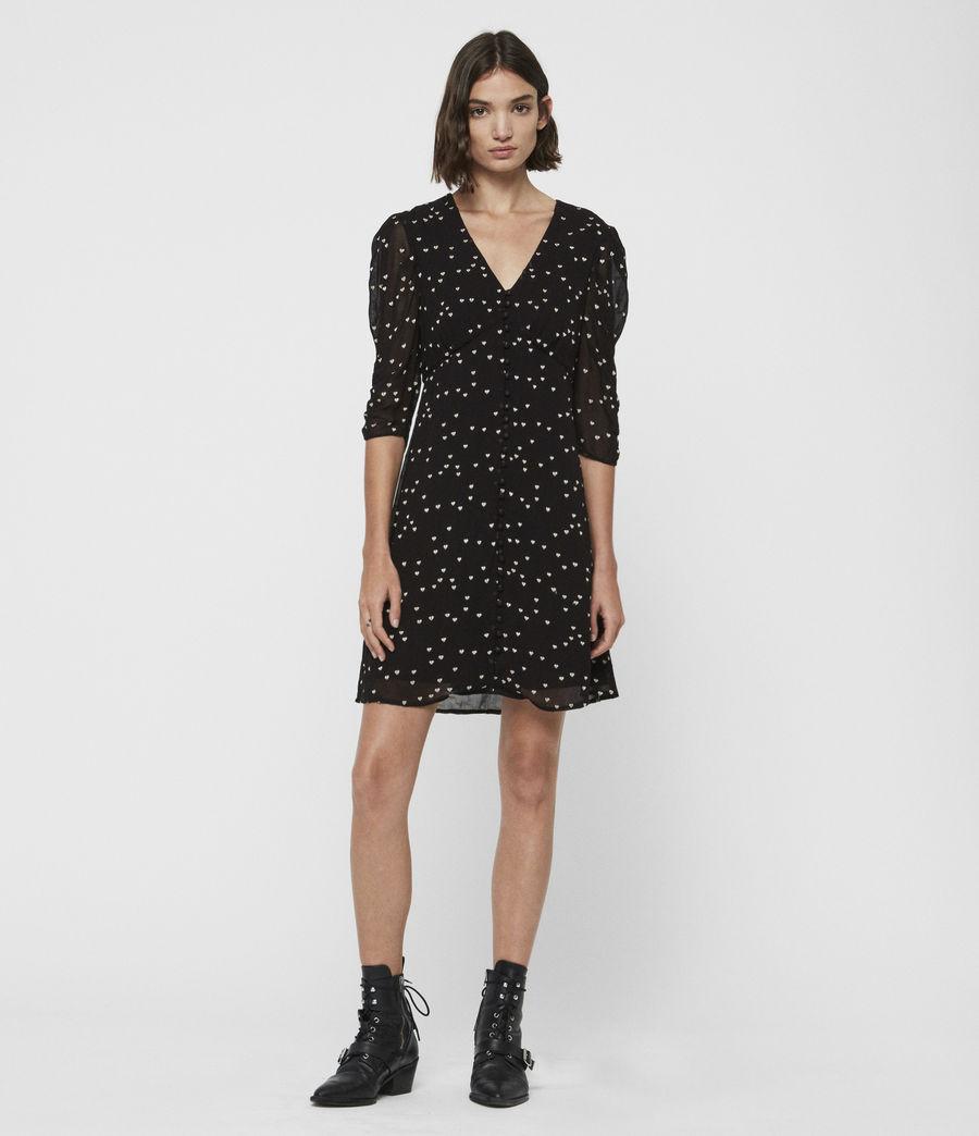 Womens Malie Hearts Dress (black) - Image 4