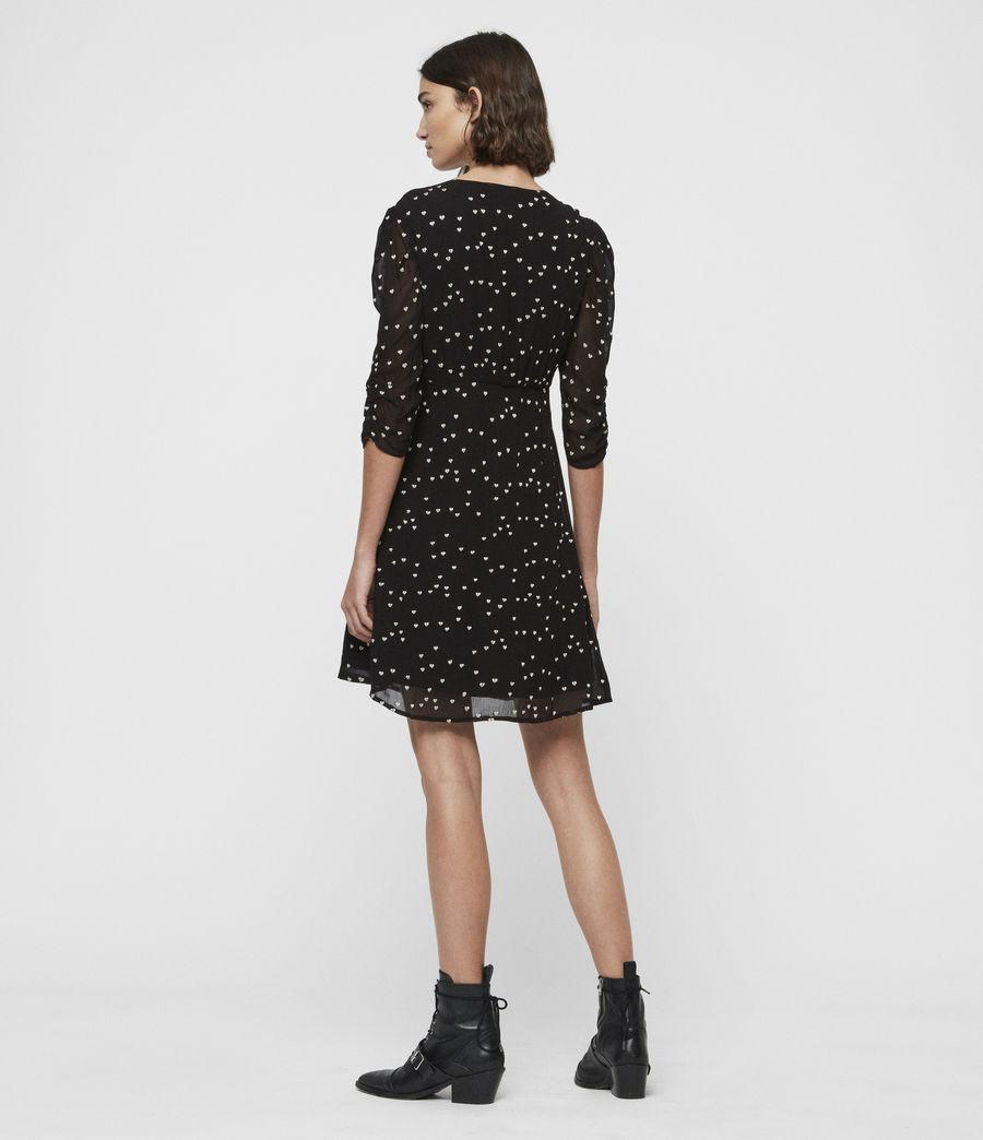 Womens Malie Hearts Dress (black) - Image 5
