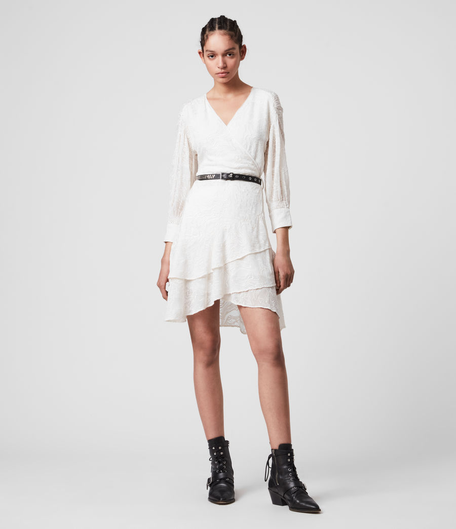 Donne Keva Palmer Dress (chalk_white) - Image 1