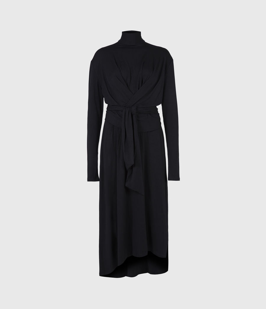 Damen Erna Dress (black) - Image 2