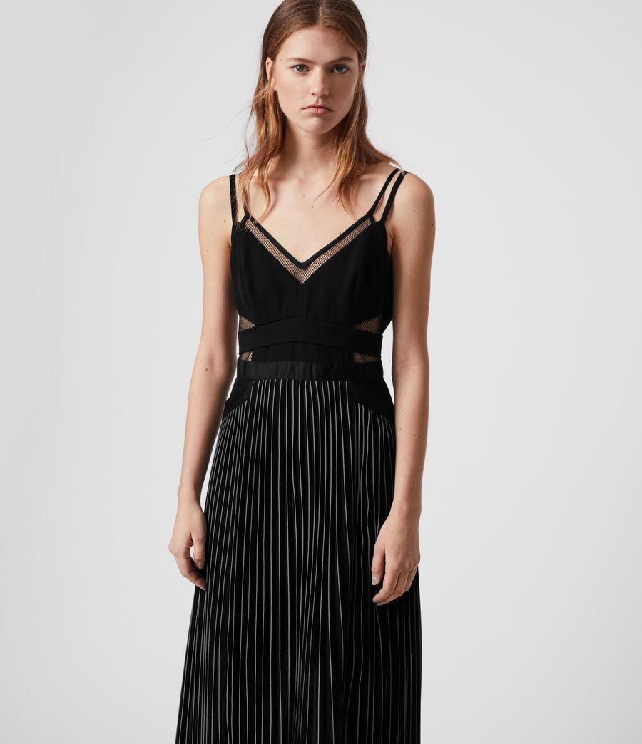 Damen Cora Plissiertes Kleid (black) - Image 3