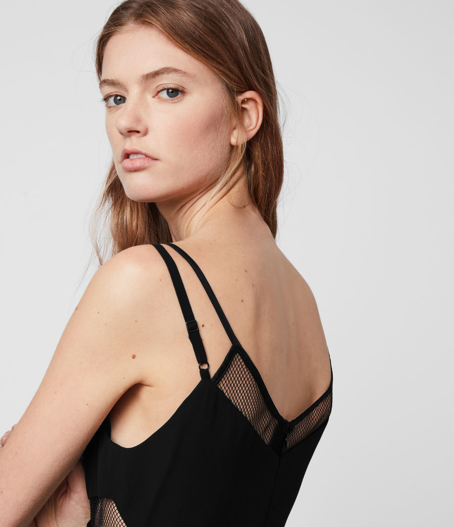 Damen Cora Plissiertes Kleid (black) - Image 5