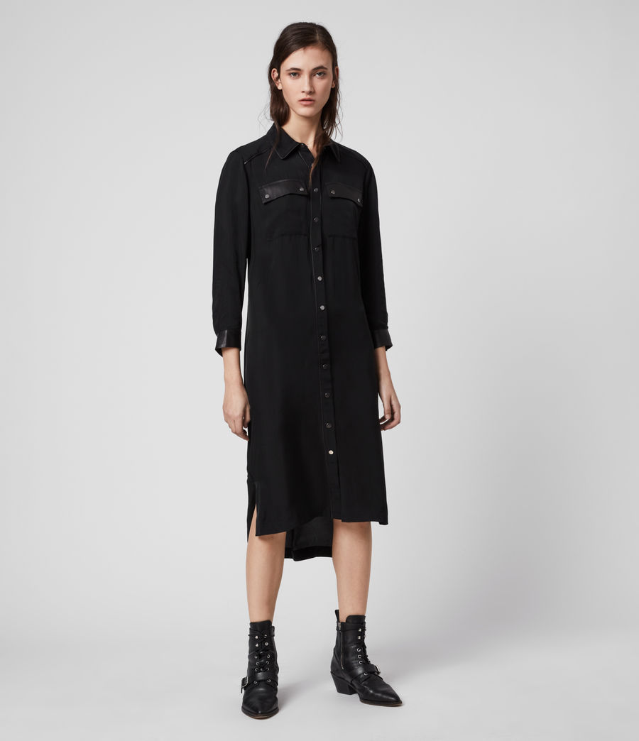 Womens Esther Lea Dress (black) - Image 3