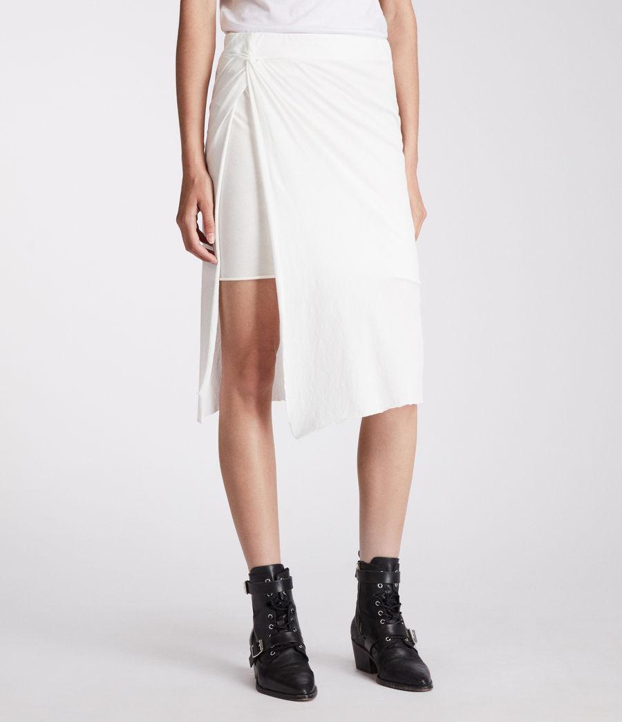 Femmes Jupe Sur (chalk_white) - Image 1