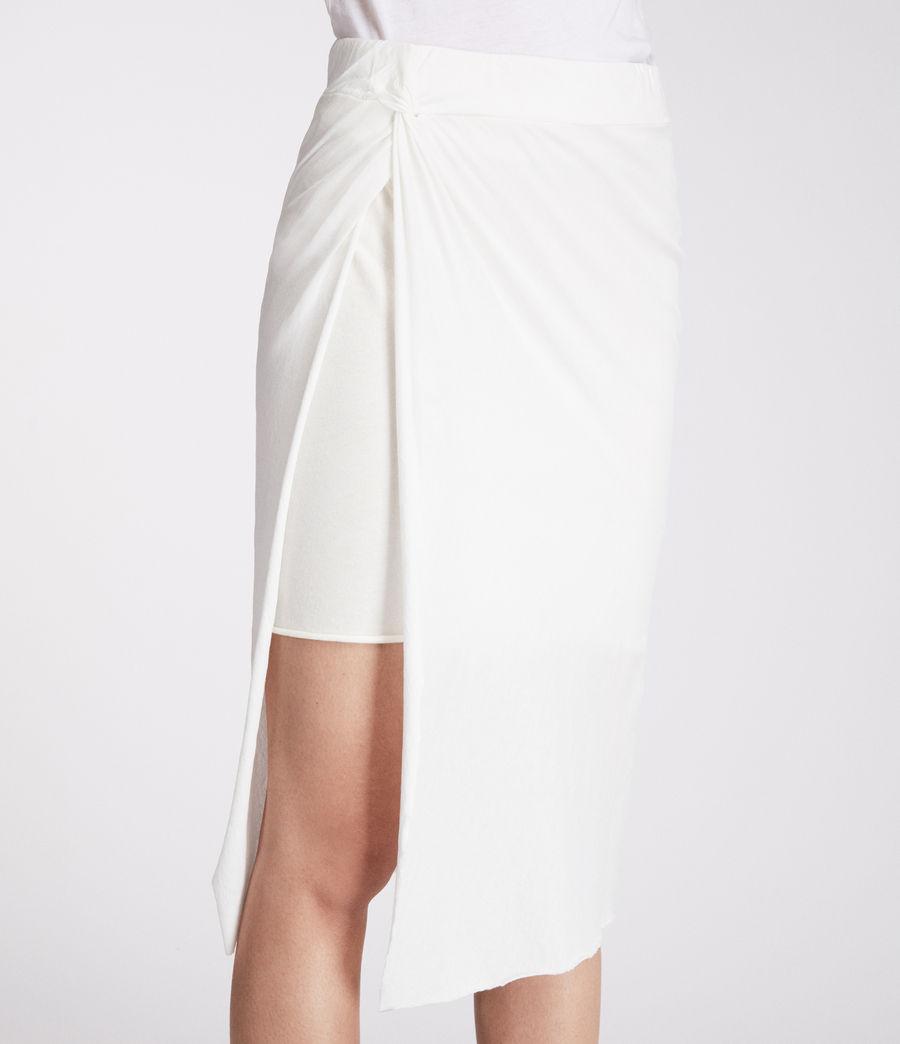 Femmes Jupe Sur (chalk_white) - Image 2