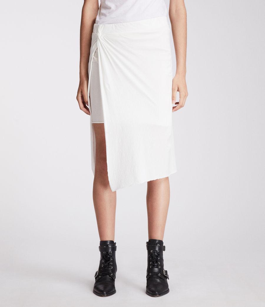 Femmes Jupe Sur (chalk_white) - Image 4