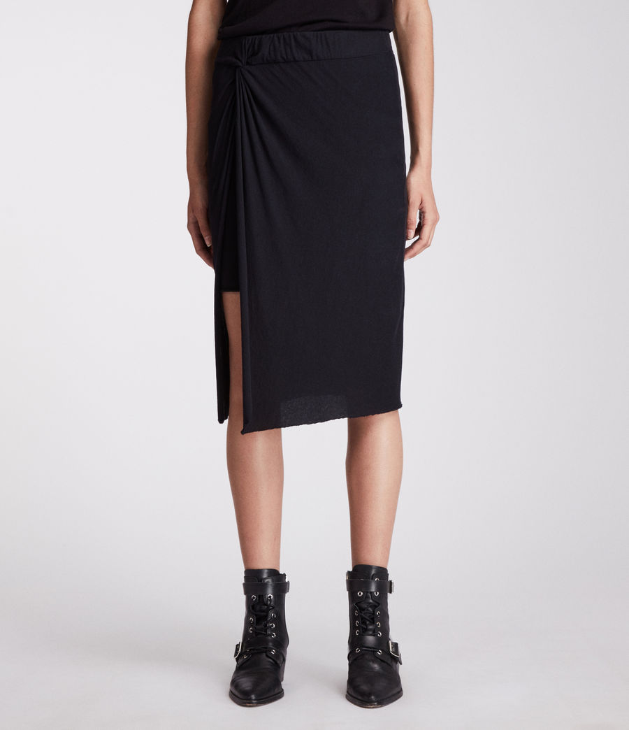 Womens Sur Skirt (jet_black) - Image 4