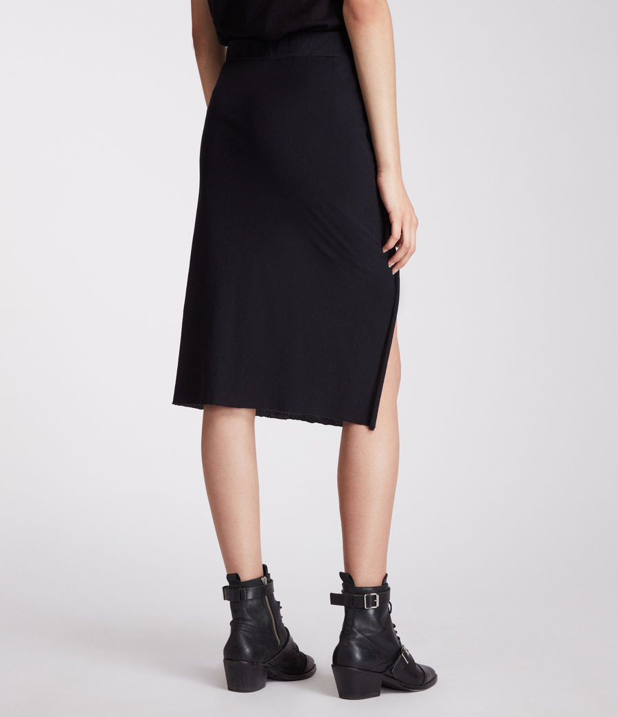 Womens Sur Skirt (jet_black) - Image 5